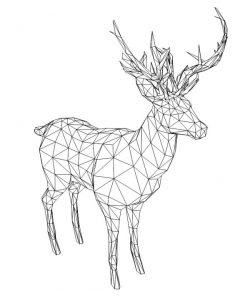 3D illusion led lamp Santa's reindeer free vector download for laser engraving machines