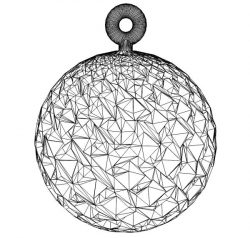 3D illusion led lamp ball free vector download for laser engraving machines