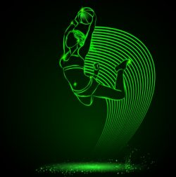3D illusion led lamp basketball girl file cdr and dxf free vector download for laser engraving machines