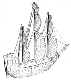 3D illusion led lamp ship free vector download for laser engraving machines