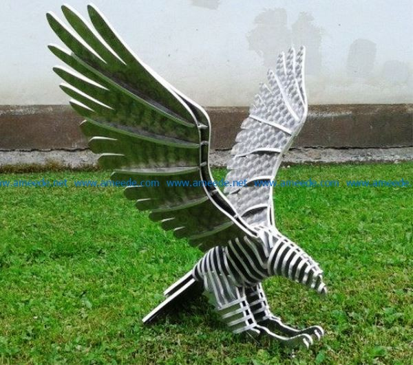 3D puzzle Eagle file cdr and dxf free vector download for Laser cut CNC