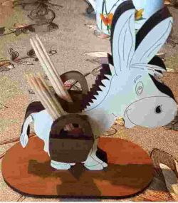 3D puzzle Donkey file cdr and dxf free vector download for Laser cut