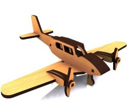 Airplane model file cdr and dxf free vector download for Laser cut CNC