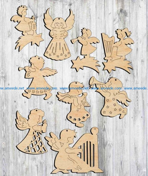 Angel file cdr and dxf free vector download for Laser cut