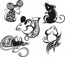Art mouse 2020 file cdr and dxf free vector download for print or laser engraving machines