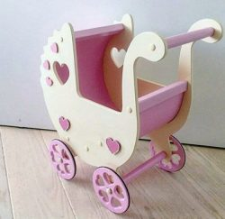 Baby pram file cdr and dxf free vector download for Laser cut