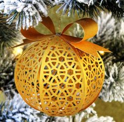 Ball on christmas tree file cdr and dxf free vector download for Laser cut