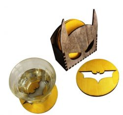 Batman coasters holder file cdr and dxf free vector download for Laser cut