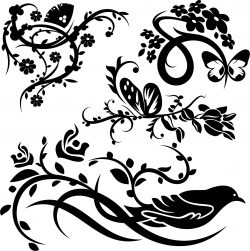 Beautiful wall paintings file cdr and dxf free vector download for print or laser engraving machines f