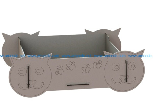 Bed for cat file cdr and dxf free vector download for Laser cut