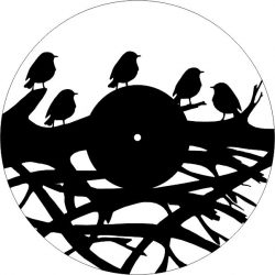 Bird wall clock on tree branches  file cdr and dxf free vector download for Laser cut CNC