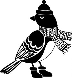 Bird with christmas file cdr and dxf free vector download for print or laser engraving machines