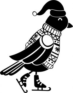 Birds with ski shoes file cdr and dxf free vector download for print or laser engraving machines
