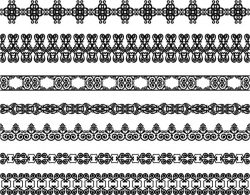 Border pattern file cdr and dxf free vector download for laser engraving machines