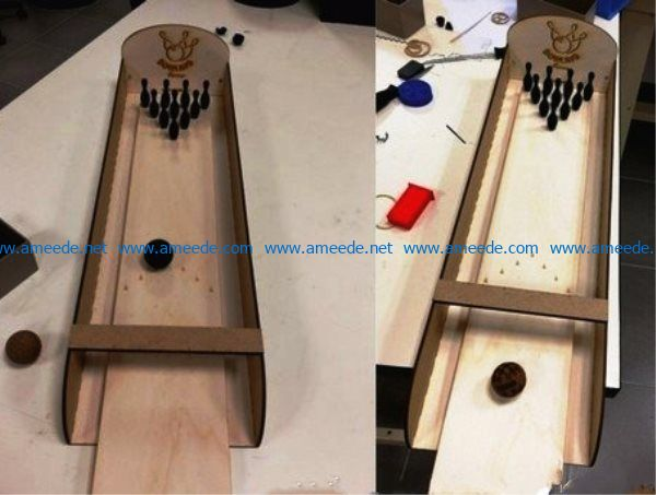 Bowling table file cdr and dxf free vector download for Laser cut