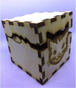 Box cat file cdr and dxf free vector download for Laser cut