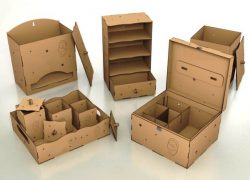 Box model file cdr and dxf free vector download for Laser cut