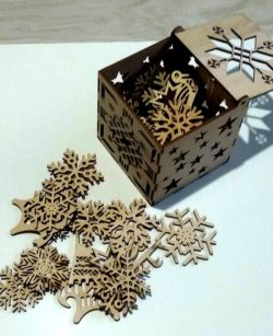 Box of snow and toys file cdr and dxf free vector download for Laser cut