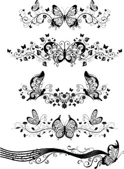 Butterfly decorated wall file cdr and dxf free vector download for Laser cut