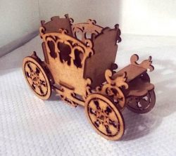 Cachepo Carriage file cdr and dxf free vector download for Laser cut