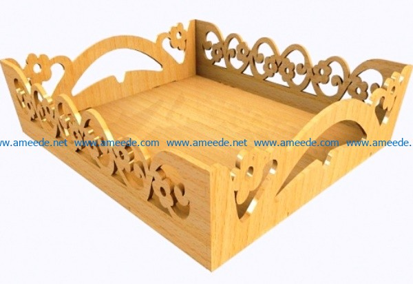 Cake tray file cdr and dxf free vector download for Laser cut