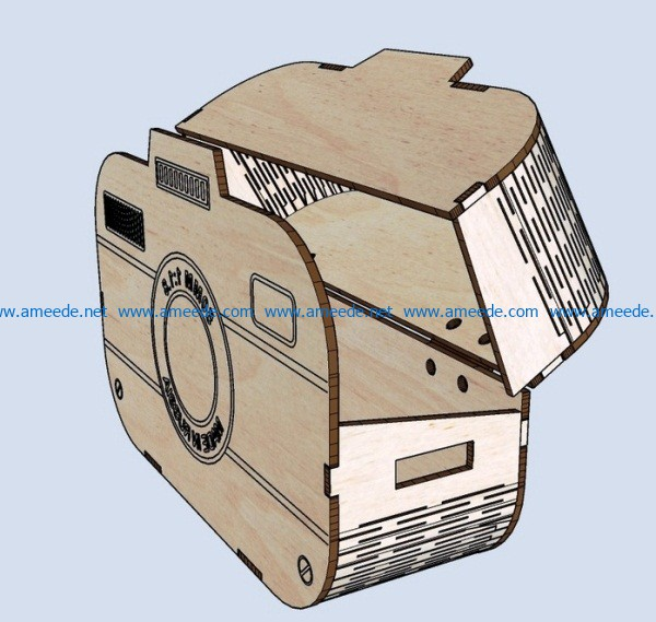 Camera box file cdr and dxf free vector download for Laser cut CNC