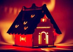 Candle house file cdr and dxf free vector download for Laser cut