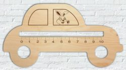 Car ruler file cdr and dxf free vector download for Laser cut