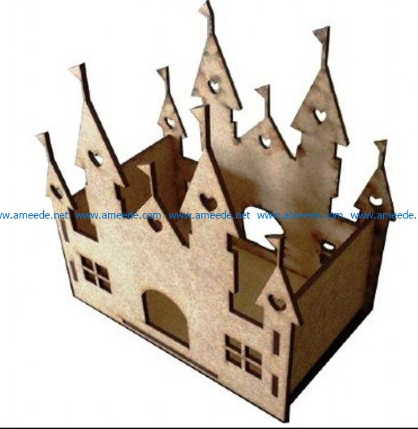 Castle Decoration file cdr and dxf free vector download for Laser cut