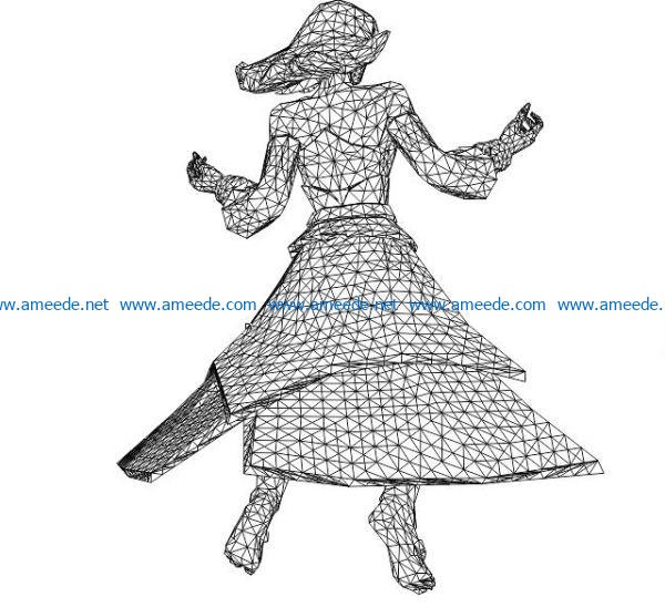 3D illusion led lamp Lina free vector download for laser engraving machines