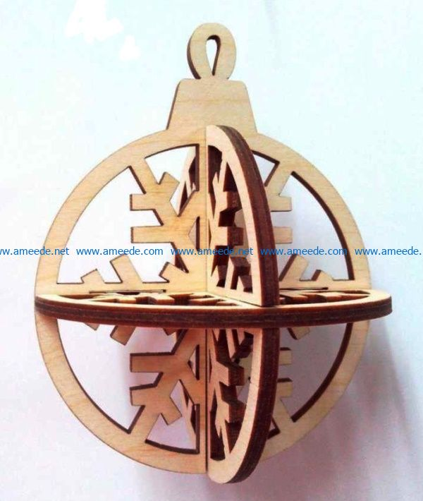 Christmas ball file cdr and dxf free vector download for Laser cut