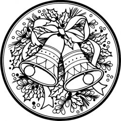 Christmas bell wreath file cdr and dxf free vector download for laser engraving machines