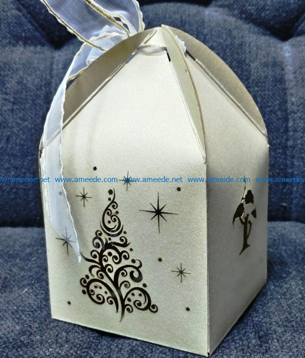 Christmas gift box file cdr and dxf free vector download for Laser cut CNC