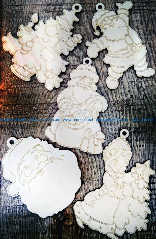 Christmas toys file cdr and dxf free vector download for Laser cut