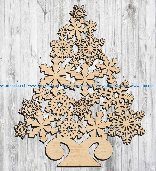 Christmas tree 2020 file cdr and dxf free vector download for Laser cut