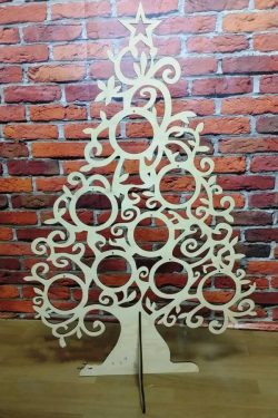 Christmas tree decoration file cdr and dxf free vector download for Laser cut