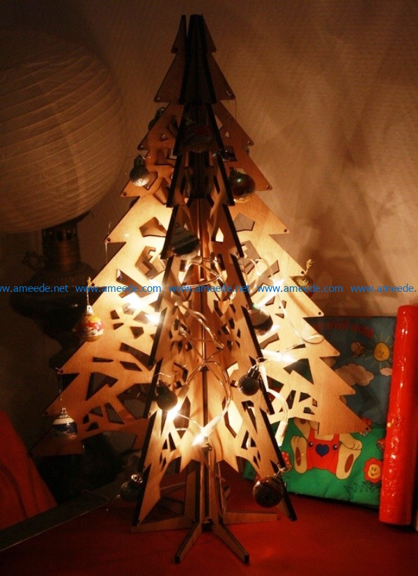 Christmas tree file cdr and dxf free vector download for Laser cut