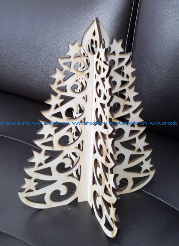 Christmas tree star border file cdr and dxf free vector download for Laser cut