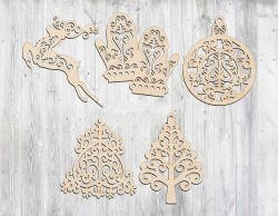 Christmas tree toys file cdr and dxf free vector download for Laser cut