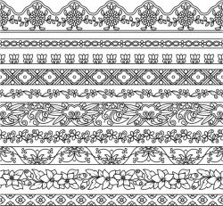 Contour pattern file cdr and dxf free vector download for print or laser engraving machines
