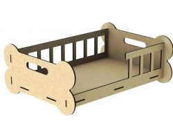 Crib for dogs file cdr and dxf free vector download for Laser cut