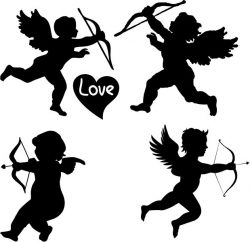 Cupid file cdr and dxf free vector download for print or laser engraving machines