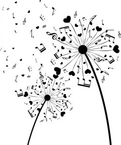 Dandelion music file cdr and dxf free vector download for print or laser engraving machines