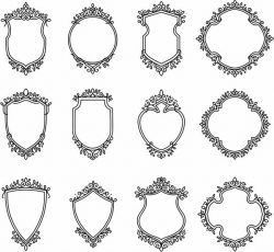 Decorative frame set file cdr and dxf free vector download for Laser cut CNC