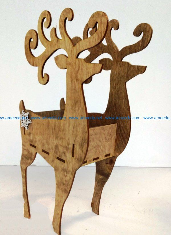 Deer Kitchen file cdr and dxf free vector download for Laser cut