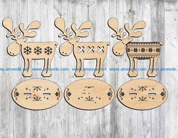 Deer on a stand file cdr and dxf free vector download for Laser cut