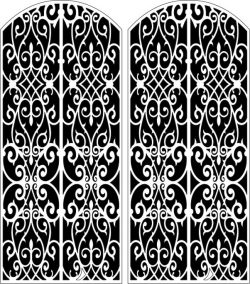Design pattern door E0006156 file cdr and dxf free vector download for Laser cut CNC