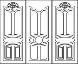 Design pattern door E0006194 file cdr and dxf free vector download for Laser cut CNC