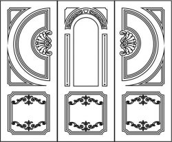 Design pattern door  E0006196 file cdr and dxf free vector download for Laser cut CNC
