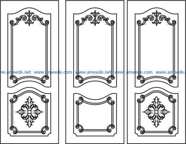 Design pattern door E0006197 file cdr and dxf free vector download for Laser cut CNC